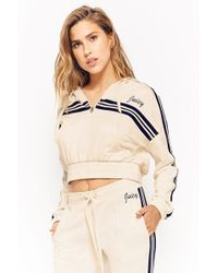 Forever 21 - Juicy Couture Varsity-striped Hoodie - Lyst