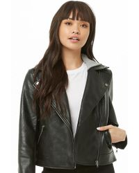 Forever 21 - Faux Leather Combo Jacket - Lyst