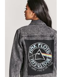 Forever 21 - Pink Floyd Graphic Denim Jacket - Lyst