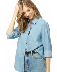 Forever 21 - Chambray Button-down Shirt - Lyst