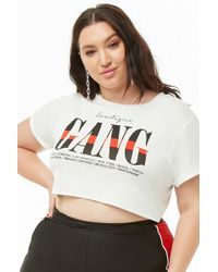 0c57ef4f8bc Forever 21 - Women's Plus Size Boutique Gang Graphic Cropped Tee Shirt -  Lyst