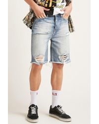 Forever 21 - Trust The Son Distressed Shorts - Lyst