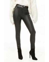 Forever 21 - Skinny Faux Leather Pants - Lyst
