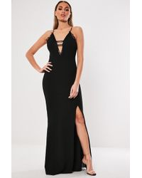 Missguided - Lace-trim Gown At - Lyst