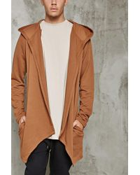 Forever 21 | Hooded Open-front Cardigan | Lyst