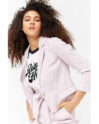 Forever 21 - Striped Seersucker Blazer - Lyst