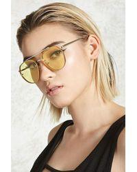 Forever 21 - Tinted Aviator Sunglasses - Lyst
