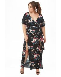 d77195980a51 Forever 21 - Women's Plus Size Floral M-slit Maxi Dress - Lyst