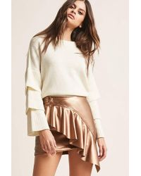 Forever 21 - Faux Leather Ruffled Mini Skirt - Lyst