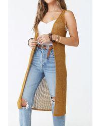 Forever 21 - Open-knit Longline Vest - Lyst
