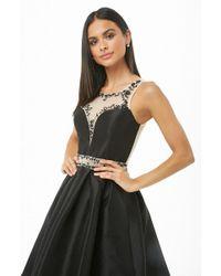 Forever 21 - Rhinestone Princess Homecoming Dress , Black - Lyst