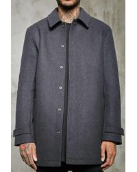 Forever 21 - Snap-button Wool-blend Topcoat - Lyst