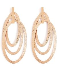Forever 21 Oval Drop Hoop Earrings , Gold