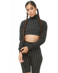 Forever 21 - Grid Print Crop Top & Shorts Set - Lyst