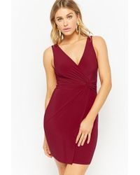 Forever 21 - Twist-front Bodycon Dress - Lyst