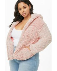 Forever 21 - Plus Size Faux Shearling Hooded Jacket - Lyst