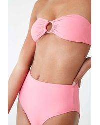 b616ef0c4 Lyst - Forever 21 Women s O-ring High-waisted Bikini Bottoms in Natural