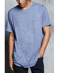 Forever 21 - Marled Knit Curved Hem Tee - Lyst
