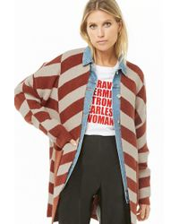 Forever 21 - Striped Brushed Cardigan - Lyst