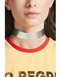 Forever 21 | Metallic Faux Leather Choker | Lyst