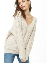 Forever 21 - Chenille Lace-up Sweater - Lyst