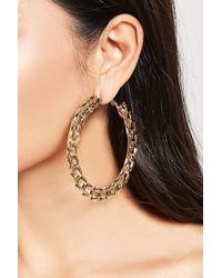 Forever 21   Oversized Linked Hoop Earrings   Lyst