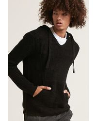 Forever 21 - Waffle-knit Hooded Sweater - Lyst