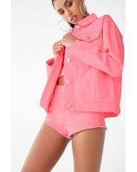 Forever 21 Neon Denim Jacket , Pink