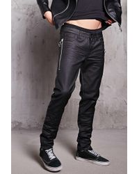 Forever 21 - Waxed Slim-fit Jeans - Lyst