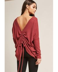 Forever 21 - Waffle-knit High-low Top - Lyst