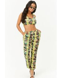 Forever 21 - Camo Stripe Sweatpants , Yellow - Lyst