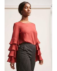 Forever 21 - Tiered Chiffon Top - Lyst