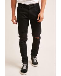 Forever 21 - Ripped Knee Slim-fit Jeans - Lyst