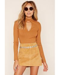 Forever 21 - Ribbed Knit Cutout Top - Lyst