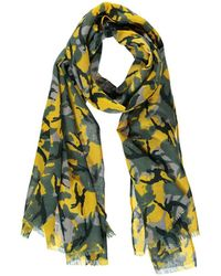Forever 21 - Frayed Camo Oblong Scarf - Lyst