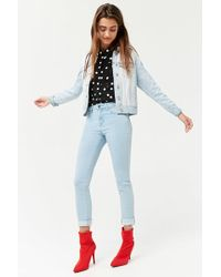 Forever 21 - Women's Mid-rise Skinny Jeans - Lyst