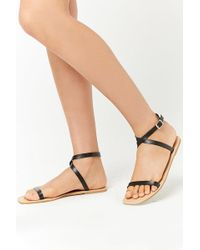 Forever 21 - Faux Leather Ankle-strap Sandals - Lyst