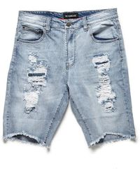 Forever 21 - Victorious Distressed Denim Shorts - Lyst