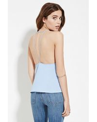 Forever 21 - Strappy Open-back Cami - Lyst