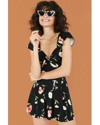Forever 21 - Floral Print Skater Skirt - Lyst