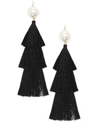 Forever 21 - Faux Pearl Tassel Duster Earrings - Lyst
