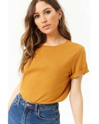 Forever 21 - Cuffed-sleeve Tee - Lyst