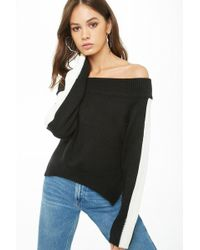 f5d697d5564 Lyst - Forever 21 Plus Size Chunky Knit Striped Sweater in Black