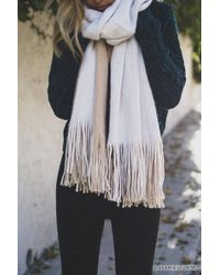 Forever 21 - Fringed Contrast Oblong Scarf - Lyst