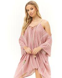 Forever 21 - Surf Gypsy Tassel Kaftan Mini Dress - Lyst