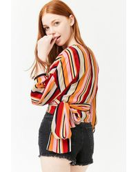 Forever 21 - Striped Wrap Top - Lyst