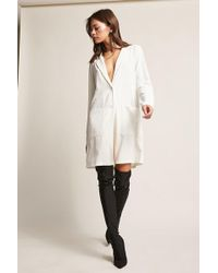 Forever 21 - Longline Button-front Blazer - Lyst