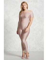 Forever 21 - Women's Plus Size Sheeny Jumpsuit - Lyst