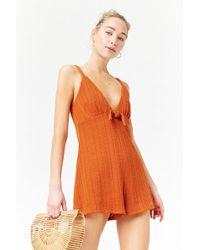 Forever 21 - Women's Bobble Knit Playsuit - Lyst