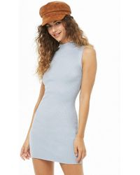 bab3164502 Forever 21 Classic T-shirt Dress in Gray - Lyst
